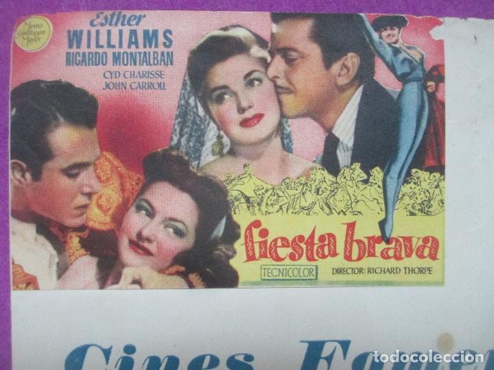 Cine: FOLLETO DE MANO, PROGRAMA CINE, FIESTA BRAVA, MARE NOSTRUM, CARTEL CON PROGRAMA - Foto 2 - 143610646