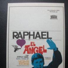 Cine: EL ANGEL, RAPHAEL. Lote 143620598