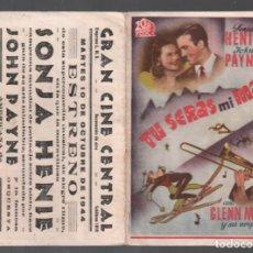 Cine: TU SERAS MI MARIDO - PROGRAMA DOBLE 20 TH CENTURY CON PUBLICIDAD RF-1941 . Lote 143696122