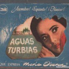 Cine: AGUAS TURBIAS - PROGRAMA DOBLE TROQUELADO CEPICSA CON PUBLICIDAD RF-1944. Lote 143697562