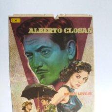 Cine: FOLLETO DE MANO - UN TESORO EN EL CIELO - ALBERTO CLOSAS. Lote 143705138