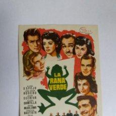 Cine: FOLLETO DE MANO - LA RANA VERDE - CONCHITA BAUTISTA. Lote 143710614