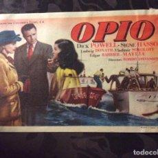 Cine: FOLLETO DE MANO OPIO. PUBLICIDAD CINE MAXIMO. Lote 143734270