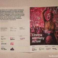 Cine: TRIPTICO ORIGINAL - ACTUAL - CINE ALEMAN - FILMOTECA - CINE DE AUTOR. Lote 143771314