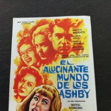 Cine: PROGRAMA DE MANO EL ALUCINANTE MUNDO DE LOS ASHBY TEATRO PRINCIPAL. Lote 143780914