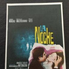 Cine: PROGRAMA DE MANO LA NOCHE TEATRO PRINCIPAL. Lote 143781438