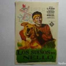 Cine: PROGRAMA LOS SUEÑOS DE NELLO - PUBLICIDAD . Lote 143798062