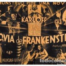 Cine: FOLLETO ORIGINAL ESTRENO LA NOVIA DE FRANKENSTEIN 1936. Lote 143824502