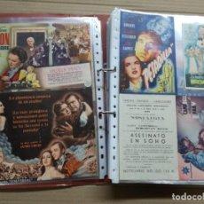 Cine: ALBUM CON 400 FOLLETOS DE CINE,DOBLES, SIMPLES,VER FOTOS.CINE CAPELLADES(CATALUÑA). Lote 143825114