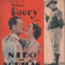 Cine: NIDO DE AGUILAS - PROGRAMA DOBLE MGM CON PUBLICIDAD RF-1403. Lote 143843514