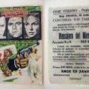 Cine: PROGRAMA DE CINE MENSAJERO DEL MIEDO PUBLICIDAD CINE VERANO PEDREGUER. Lote 143854690
