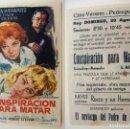 Cine: PROGRAMA DE CINE CONSPIRACION PARA MATAR PUBLICIDAD CINE VERANO PEDREGUER. Lote 143855390