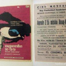 Cinema - PROGRAMA DE CINE AGENTE Z 55 PUBLICIDAD CINE MODERNO PEDREGUER - 143876414