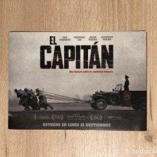 Cine: FOLLETO DE MANO DOBLE. EL CAPITÁN. CINE.. Lote 143884118