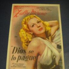 Cine: DIOS SE LO PAGUE - CINE ATENEO , SALLENT. Lote 143892438