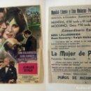 Cine: PROGRAMA DE CINE LA MUJER DE PAJA PUBLICIDAD CINE MODERNO PEDREGUER. Lote 143895494