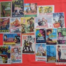 Cine: LOTE 100 PROGRAMAS ORIGINALES VARIADOS, AÑOS 40/50/60, LS117. Lote 143905498