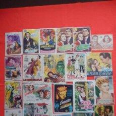 Cine: LOTE 100 PROGRAMAS ORIGINALES VARIADOS, AÑOS 40/50/60, LS118. Lote 143905838