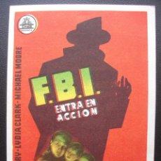Cine: F.B.I. ENTRA EN ACCIÓN, GENE BARRY., CINE VICTORIA DE MAQUINENZA. Lote 143920602