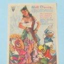 Cine: LOS TRES CABALLEROS - WALT DISNEY - CON PUBLICIDAD FOLLETO DE MANO ORIGINAL. Lote 143924226