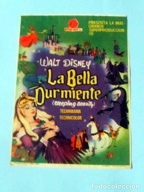 LA BELLA DURMIENTE - WALT DISNEY - CON PUBLICIDAD FOLLETO DE MANO ORIGINAL (Cine - Folletos de Mano - Infantil)