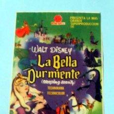Cine: LA BELLA DURMIENTE - WALT DISNEY - CON PUBLICIDAD FOLLETO DE MANO ORIGINAL. Lote 143924642
