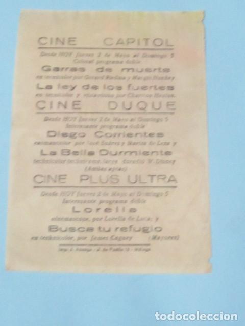 Cine: LA BELLA DURMIENTE - WALT DISNEY - CON PUBLICIDAD FOLLETO DE MANO ORIGINAL - Foto 2 - 143924642