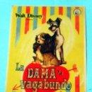Cine: LA DAMA Y EL VAGABUNDO - WALT DISNEY - CON PUBLICIDAD FOLLETO DE MANO ORIGINAL. Lote 143924714