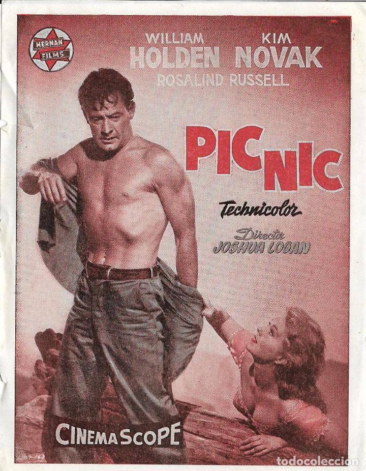 Programa De Cine Picnic William Holden Kim Novak Spublicidad