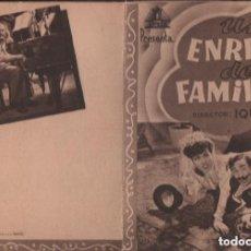 Cine: UN ENREDO DE FAMILIA - PROGRAMA DOBLE DE CIFESA SIN PUBLICIDAD , RF-1946, BUEN ESTADO. Lote 144065842