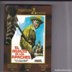 Foglietti di film di film antichi di cinema: EL ASALTO DE LOS APACHES,STEWART GRANGER B.S.O.DVD DEL 2007. Lote 144126642