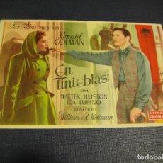 Cine: EN TINIEBLAS - CULTURAL CINEMA , MISLATA. Lote 144154242