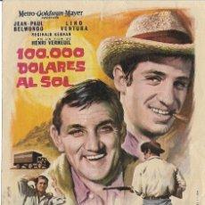 Cine: PROGRAMA DE CINE - 100.000 DOLARES AL SOL - JEAN PAUL BELMONDO - CINE RETIRO 1966. Lote 144154414