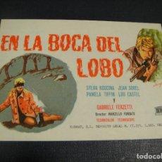 Cine: EN LA BOCA DEL LOBO - SIN PUBLICIDAD. Lote 144155106