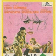 Cine: PROGRAMA DE CINE - LA TRAMPA DEL DINERO - GLENN FORN - CINE RIALTO 1966. Lote 144155514