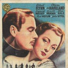 Cine: PROGRAMA DE CINE - CAMINO DE SANTA FE - ERROL FLYNN - CINE VICTORIA SITGES 1949. Lote 144156818