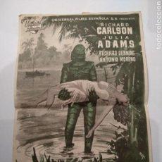 Cine: PROGRAMA DE CINE LA MUJER Y EL MONSTRUO, 1954. Lote 144159320