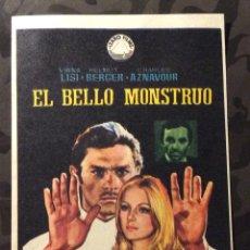 Cine: FOLLETO DE MANO EL BELLO MONSTRUO. SIN PUBLICIDAD . Lote 144159846