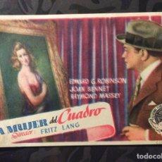 Cine: FOLLETO DE MANO LA MUJER DEL CUADRO. PUBLICIDAD CERAMICA MONTGRI. Lote 144161438