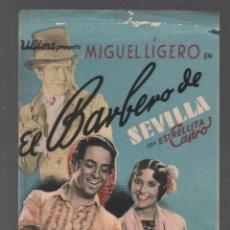 Cine: EL BARBERO DE SEVILLA / ESTRELLITA CASTRO - PROGRAMA SENCILLO DE U FILMS CON PUBLICIDAD RF-1964. Lote 144177098