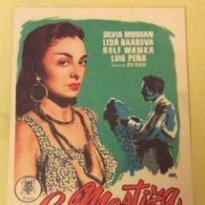 Foglietti di film di film antichi di cinema: FOLLETO DE MANO LA MESTIZA. SIN PUBLICIDAD. Lote 144225162