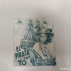 Folhetos de mão de filmes antigos de cinema: 1218- PROGRAMA DE CINE AÑOS 40/50 EL PIRATA SOY YO JUAN DE LANDA GRAN CINE CORUÑA . Lote 144255530