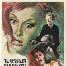 Cine: PROGRAMA DE CINE - TE ESPERA LA MUERTE, QUERIDA - TALLULAH BANKHEAD - S/P. Lote 144284522