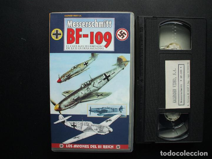 VHS MESSERSCHMITT BF- 109. KALENDER VIDEO. AVIACIÓN LUFTWAFFE (Cine - Folletos de Mano - Documentales)