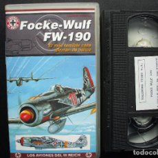 Cine: VHS FOCKE-WULF FW-190. KALENDER VIDEO. AVIACIÓN LUFTWAFFE. Lote 144316866