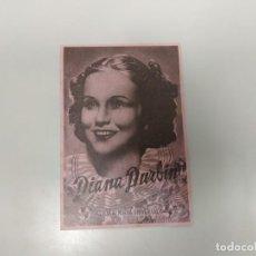 Folhetos de mão de filmes antigos de cinema: 1218- PROGRAMA DE CINE AÑOS 40/50 LOCA POR LA MUSICA DIANA DURBIN GRAN CINE CORUÑA . Lote 144353670