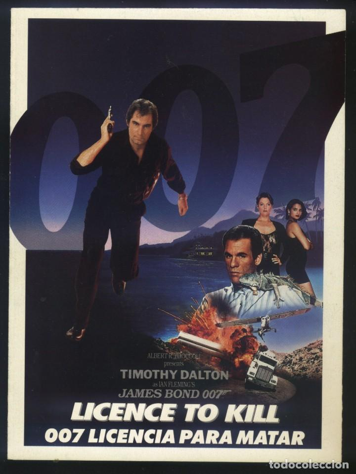 Cine: P-7767- JAMES BOND 007 LICENCIA PARA MATAR (Licence to Kill) (TRIPTICO) Timothy Dalton - Foto 1 - 144418438