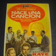 Flyers Publicitaires de films Anciens: NACE UNA CANCION - TEATRO IRIS , ZARAGOZA. Lote 144499998