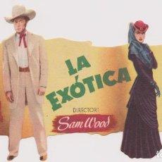 Cine: PROGRAMA DE CINE TROQUELADO - LA EXÓTICA - GARY COOPER E INGRID BERGMAN - MERIDIANA, 1948. Lote 144583834