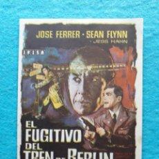 Cine: EL FUJITIVO DEL TREN DE BERLIN. AÑO 1964. JOSE FERRER, SEAN FLINN, JESS HAHN.... Lote 144616134